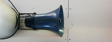 Bullhorn on the ceiling