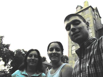 Amy Singer, Kelly Singer, and Nathan Matias at the Mercer Museum, Doylestown PA