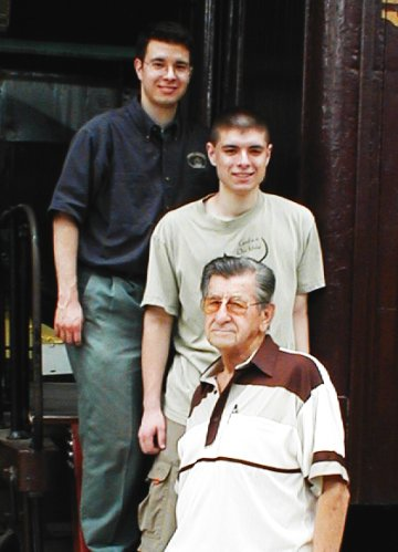 Jonathan Matias, J. Nathan Matias, and William Berkheiser at the National Railroad Museum in Reading, PA
