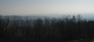 The view from Governor Dick Tower, Mount Gretna, Pennsylvania, December 2004