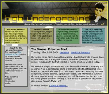 Screenshot of High Underground, a to-be-launched website about creative nonfiction.