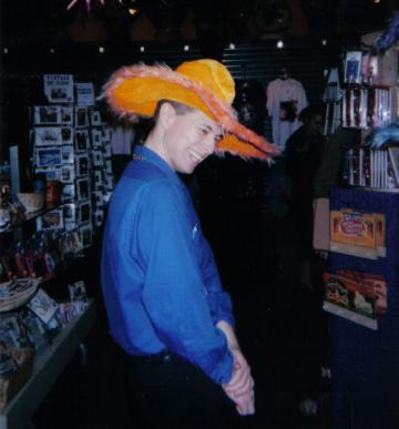 J. Nathan Matias at Mardi Gras World for a gala event with the National Collegiate Honors Conference, 2004