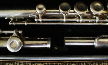 Image of a flute I bought at a yard sale on Saturday