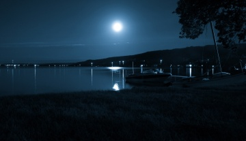 Lake at night, by Colin H.