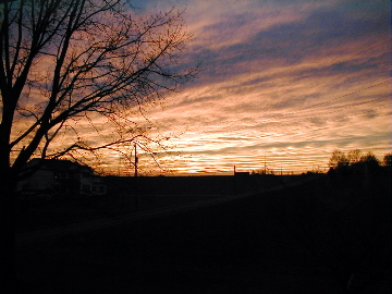 Sunset, January 15, 2005, Mount Joy, Pennsylvania